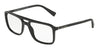 DOLCE & GABBANA DG3267F Rectangle Eyeglasses  501-BLACK 54-18-145 - Color Map black
