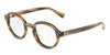 DOLCE & GABBANA DG3271 Irregular Eyeglasses  3116-STRIPED BROWN 47-23-145 - Color Map brown