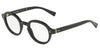 DOLCE & GABBANA DG3271 Round Eyeglasses  501-BLACK 47-23-145 - Color Map black