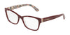DOLCE & GABBANA DG3274 Rectangle Eyeglasses  3179-BORDEAUX ON NEW MAIOLICA 54-17-140 - Color Map bordeaux