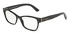 DOLCE & GABBANA DG3274 Rectangle Eyeglasses  501-BLACK 54-17-140 - Color Map black
