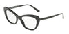 DOLCE & GABBANA DG3275B Cat Eye Eyeglasses  2525-BLACK 52-17-140 - Color Map black