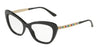 DOLCE & GABBANA DG3275B Cat Eye Eyeglasses  501-BLACK 52-17-140 - Color Map black