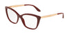 DOLCE & GABBANA DG3280 Cat Eye Eyeglasses  3091-BORDEAUX 54-15-140 - Color Map bordeaux