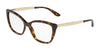 DOLCE & GABBANA DG3280 Cat Eye Eyeglasses  502-HAVANA 54-15-140 - Color Map havana