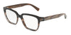 DOLCE & GABBANA DG3282F Square Eyeglasses  3158-BROWN GRADIENT BROWN HORN 54-17-140 - Color Map brown