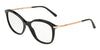 DOLCE & GABBANA DG3299 Square Eyeglasses  501-BLACK 51-17-140 - Color Map black