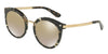 DOLCE & GABBANA DG4268F Round Sunglasses  911/6E-CUBE BLACK/GOLD 52-22-140 - Color Map black