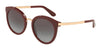 DOLCE & GABBANA DG4268 Round Sunglasses  30918G-BORDEAUX 52-22-140 - Color Map bordeaux