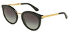 DOLCE & GABBANA DG4268 Round Sunglasses  501/8G-BLACK 52-22-140 - Color Map black