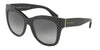 DOLCE & GABBANA DG4270 Square Sunglasses  31268G-POIS WHITE ON BLACK 55-19-140 - Color Map black