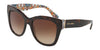 DOLCE & GABBANA DG4270 Square Sunglasses  317813-HAVANA ON NEW MAIOLICA 55-19-140 - Color Map havana