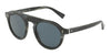 DOLCE & GABBANA DG4306 Round Sunglasses  3117R5-STRIPED BLUE 50-23-145 - Color Map blue