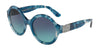 DOLCE & GABBANA DG4331 Round Sunglasses  31714S-HAVANA PEARL BLUE 53-21-140 - Color Map blue