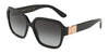 DOLCE & GABBANA DG4336 Square Sunglasses  501/8G-BLACK 56-18-145 - Color Map black