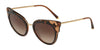 DOLCE & GABBANA DG4340 Cat Eye Sunglasses  318513-TOP HAVANA ON TRANSP BROWN 51-21-140 - Color Map brown