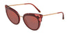 DOLCE & GABBANA DG4340 Cat Eye Sunglasses  3190D0-TOP BORDX ON DARK PINK TRANSP 51-21-140 - Color Map pink