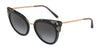 DOLCE & GABBANA DG4340 Cat Eye Sunglasses  501/8G-TOP BLACK ON BLACK TRANSPARENT 51-21-140 - Color Map black
