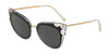 DOLCE & GABBANA DG4340 Cat Eye Sunglasses  675/87-TOP BLACK ON CRYSTAL 51-21-140 - Color Map black