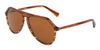 DOLCE & GABBANA DG4341 Pilot Sunglasses  318973-STRIPED ORANGE 59-13-140 - Color Map havana