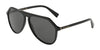 DOLCE & GABBANA DG4341 Pilot Sunglasses  501/87-BLACK 59-13-140 - Color Map black