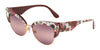 DOLCE & GABBANA DG4346 Cat Eye Sunglasses  3194W9-ROSE AND PEONY/ROSE GOLD 53-17-145 - Color Map multi