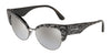 DOLCE & GABBANA DG4346 Cat Eye Sunglasses  31986V-LEO GLITTER BLACK 53-17-145 - Color Map multi