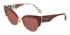 DOLCE & GABBANA DG4346 Cat Eye Sunglasses  3202D0-BORDEAUX ON ROSE AND PEONY 53-17-145 - Color Map multi