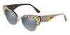 DOLCE & GABBANA DG4346 Cat Eye Sunglasses  32161G-BARROW WHITE ON HAVANA 53-17-145 - Color Map multi