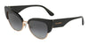 DOLCE & GABBANA DG4346 Cat Eye Sunglasses  501/8G-BLACK 53-17-145 - Color Map black