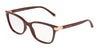 DOLCE & GABBANA DG5036 Butterfly Eyeglasses  3091-BORDEAUX 53-17-140 - Color Map blue