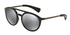 DOLCE & GABBANA DG6101 Round Sunglasses  501/6G-BLACK/MATTE GUNMETAL 53-21-145 - Color Map black