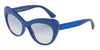 DOLCE & GABBANA DG6110 Cat Eye Sunglasses  312219-BLUE 52-18-140 - Color Map blue