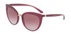 DOLCE & GABBANA DG6113 Cat Eye Sunglasses  17548H-TRANSP DARK CHERRY 55-18-140 - Color Map cherry