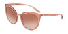 DOLCE & GABBANA DG6113 Cat Eye Sunglasses  314813-TRANSPARENT PINK 55-18-140 - Color Map pink