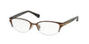 Coach JACKIE HC5058 Cat Eye Eyeglasses  9199-SATIN DARK BROWN/DARK TORTOISE 49-17-135 - Color Map brown