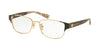 Coach HC5079 Rectangle Eyeglasses  9257-BLACK GOLD/WILD BEAST 53-16-135 - Color Map gold