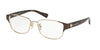 Coach HC5079 Rectangle Eyeglasses  9258-BROWN LT GOLD/DARK TORTOISE 53-16-135 - Color Map gold
