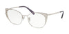 Coach HC5094 Cat Eye Eyeglasses  9001-SILVER 53-18-145 - Color Map silver