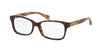 Coach LIBBY HC6047 Rectangle Eyeglasses  5204-DARK TORTOISE/LIGHT BROWN HORN 51-16-135 - Color Map havana
