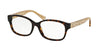 Coach TIA HC6049 Butterfly Eyeglasses  5152-DARK TORTOISE/CRYSTAL BROWN 54-16-135 - Color Map havana