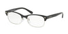 Coach HC6098 Cat Eye Eyeglasses  5431-BLACK SILVER/BLACK GUN SIG C 53-17-135 - Color Map black