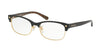 Coach HC6098 Cat Eye Eyeglasses  5432-BLACK GOLD/DARK TORT GOLD SIG 53-17-135 - Color Map black