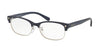 Coach HC6098 Cat Eye Eyeglasses  5433-NAVY SILVER/NAVY 53-17-135 - Color Map blue