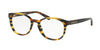 Coach HC6102 Phantos Eyeglasses  5440-BLK AMBER GLTR VARSITY STRIPE 51-18-140 - Color Map multi