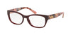 Coach HC6104 Square Eyeglasses  5509-OXBLOOD SOLID 52-16-140 - Color Map red