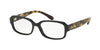 Coach HC6105F Rectangle Eyeglasses  5449-BLACK/DARK VINTAGE TORTOISE 53-15-140 - Color Map black