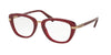 Coach HC6106B Square Eyeglasses  5454-AUBERGINE ROSE GOLD 50-19-135 - Color Map bordeaux