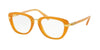 Coach HC6106B Square Eyeglasses  5455-AMBER GOLD 50-19-135 - Color Map orange