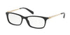 Coach HC6110F Rectangle Eyeglasses  5486-BLACK 54-16-140 - Color Map black